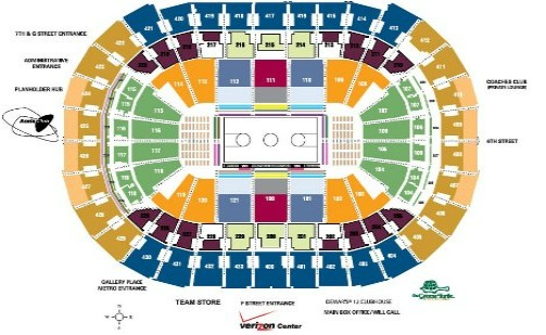 Verizon Center Seating Chart Basketball