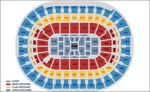 Verizon Center Seating Chart Center Stage