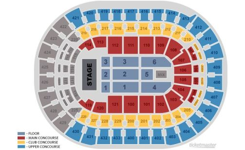 Verizon Center Seating Chart End Stage