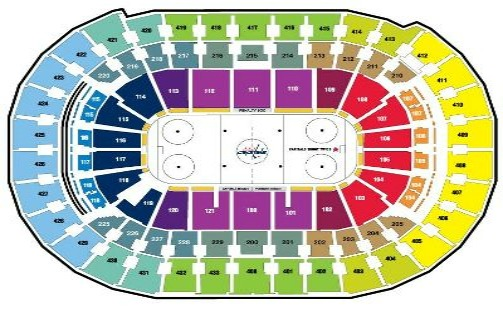 Verizon Center Seating Chart Hockey